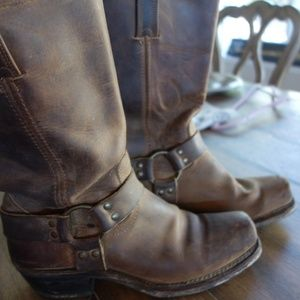 Frye Brown Harness Boot